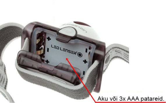 Led Lenser SEO 5 battery compartment